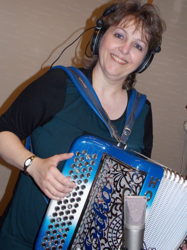 accordeon, erika, musique, studio