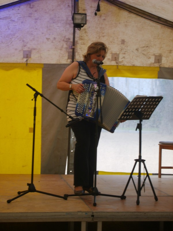 accordeon, erika, musique, fete, bal the, dansant,